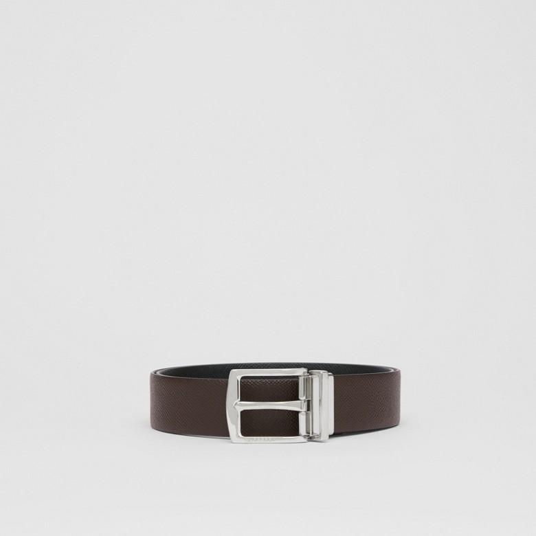 Burberry - Cinturón reversible en piel granulada - 4