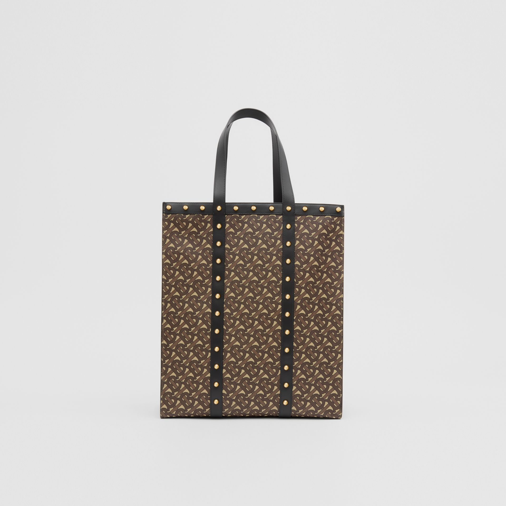 Monogram Print E-canvas Portrait Tote Bag in Black | Burberry Hong Kong S.A.R - gallery image 9
