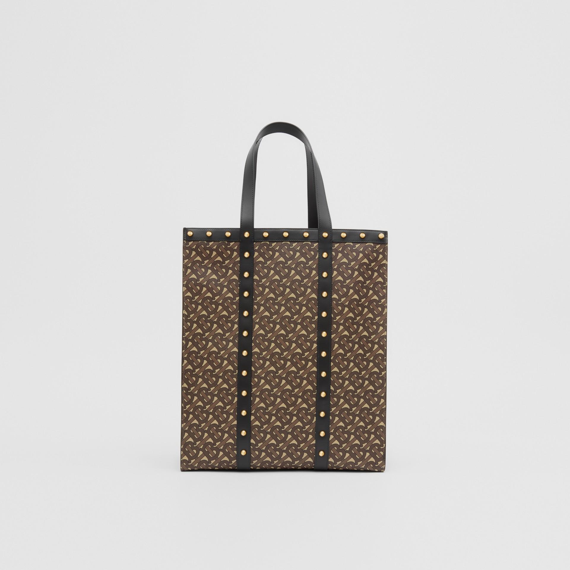 Bolsa Tote em lona ecológica com retrato e estampa de monograma (Preto) | Burberry - galeria de imagens 9
