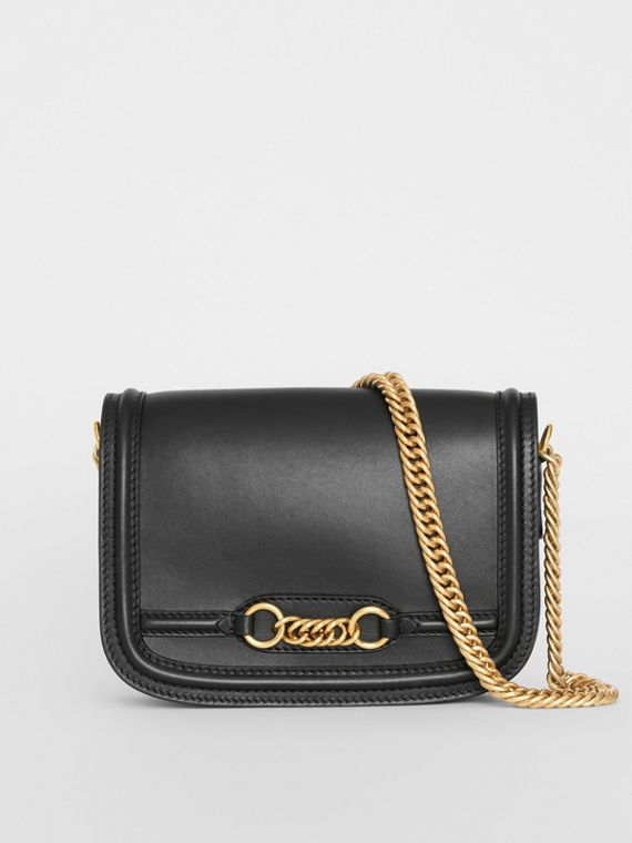 The Leather Link Bag in Black