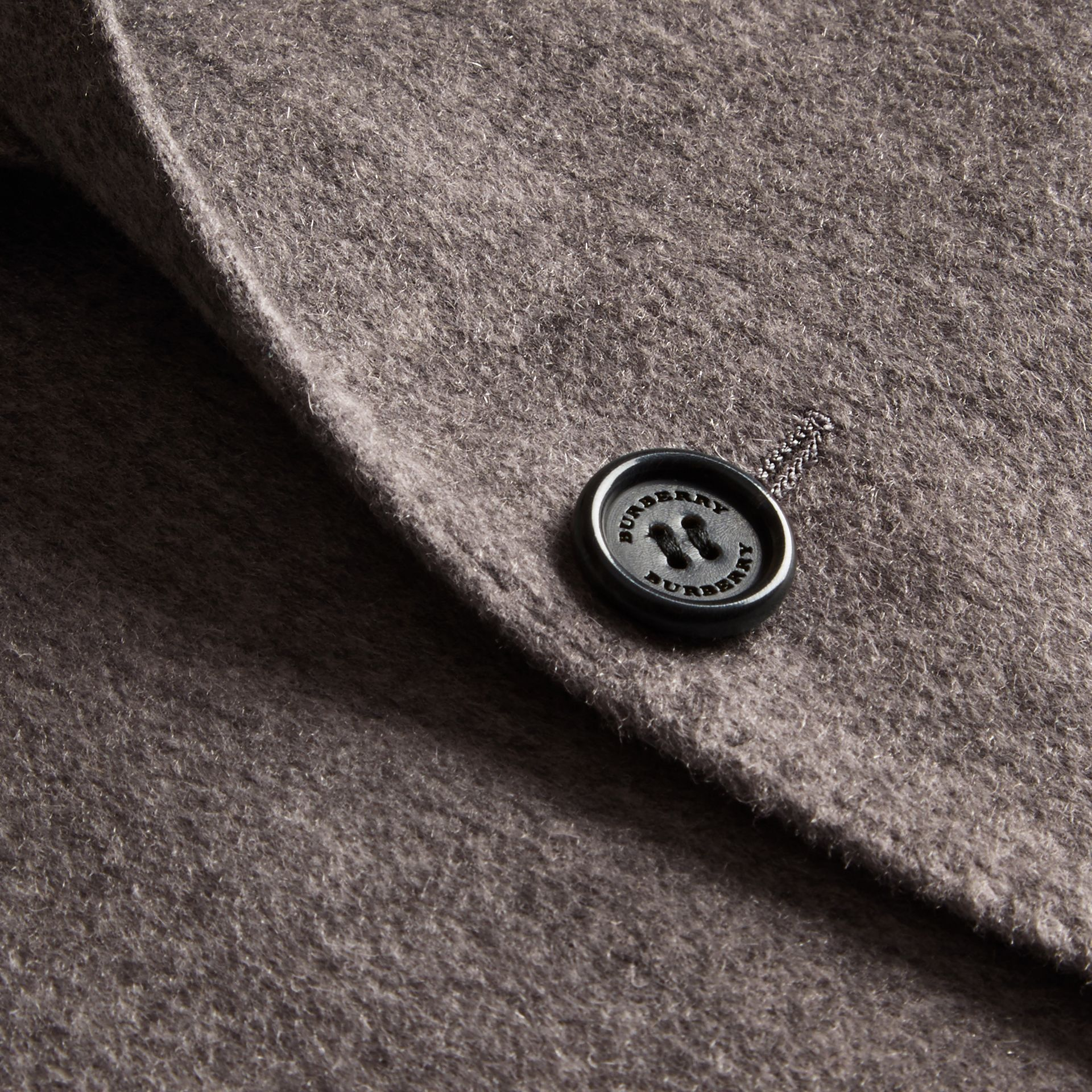 Modern Fit Lightweight Cashmere Tailored Jacket Mid Grey Melange - gallery image 2