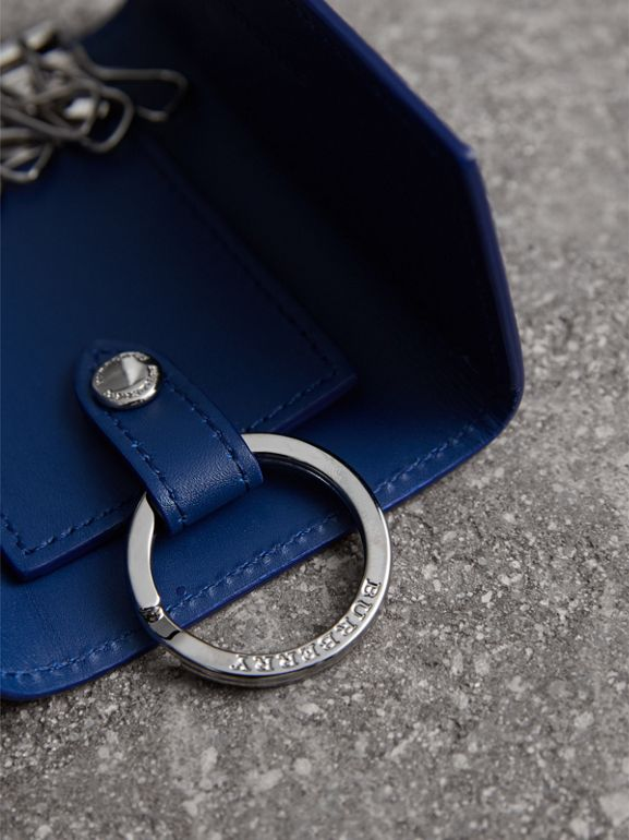 London Leather Key Holder in Deep Blue - Men | Burberry - cell image 1