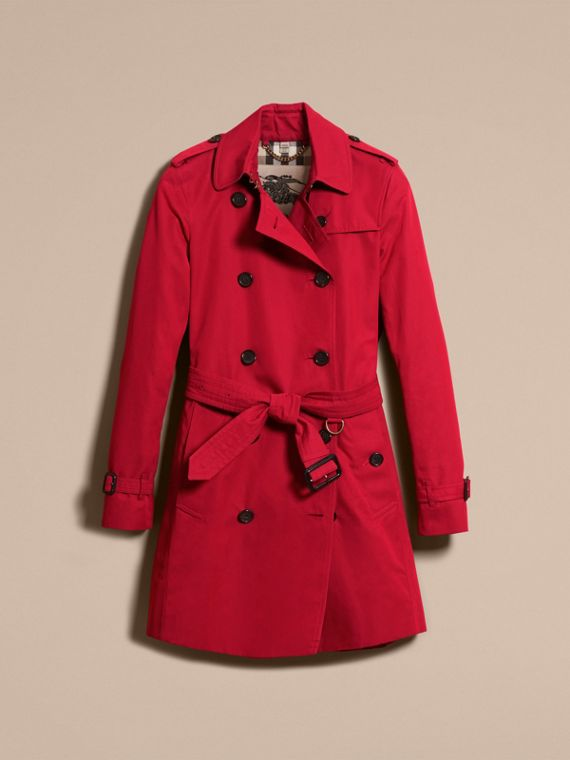 Parade red The Kensington – Mid-Length Heritage Trench Coat Parade Red - cell image 3