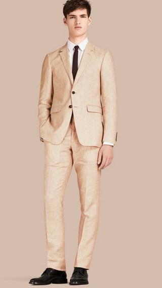 Modern Fit Linen Jacket