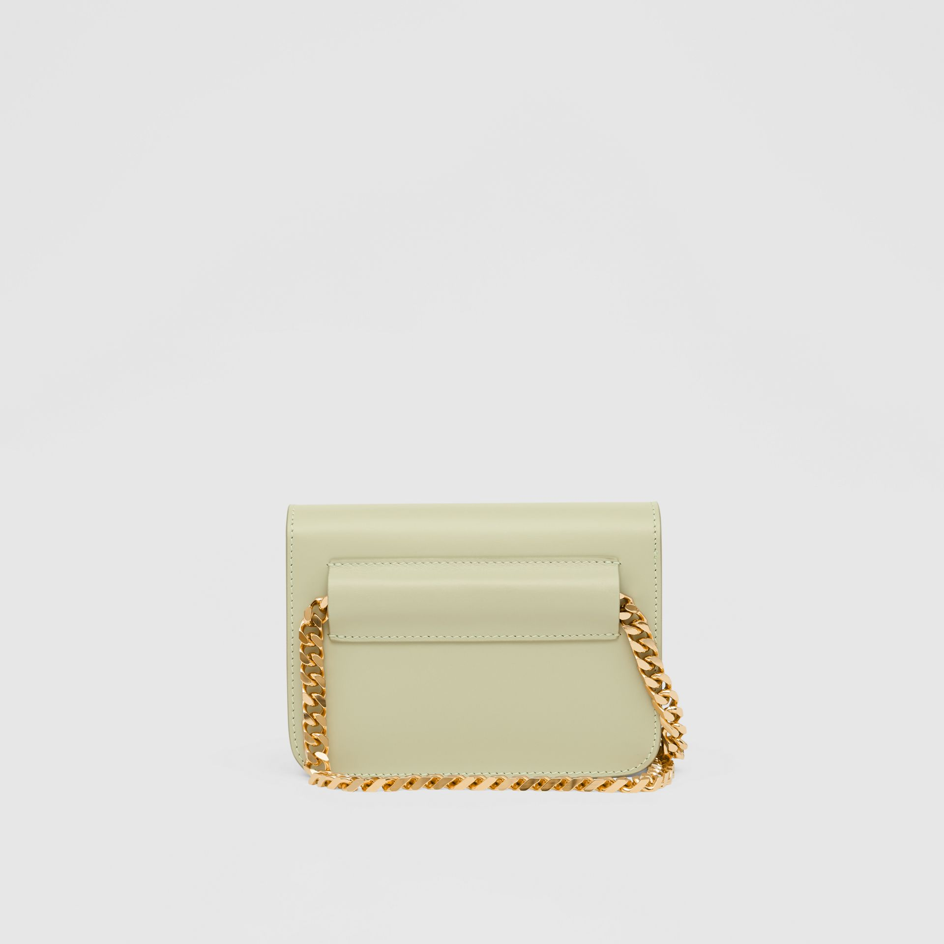Belted Leather TB Bag in Pale Sage - Women | Burberry - gallery image 5