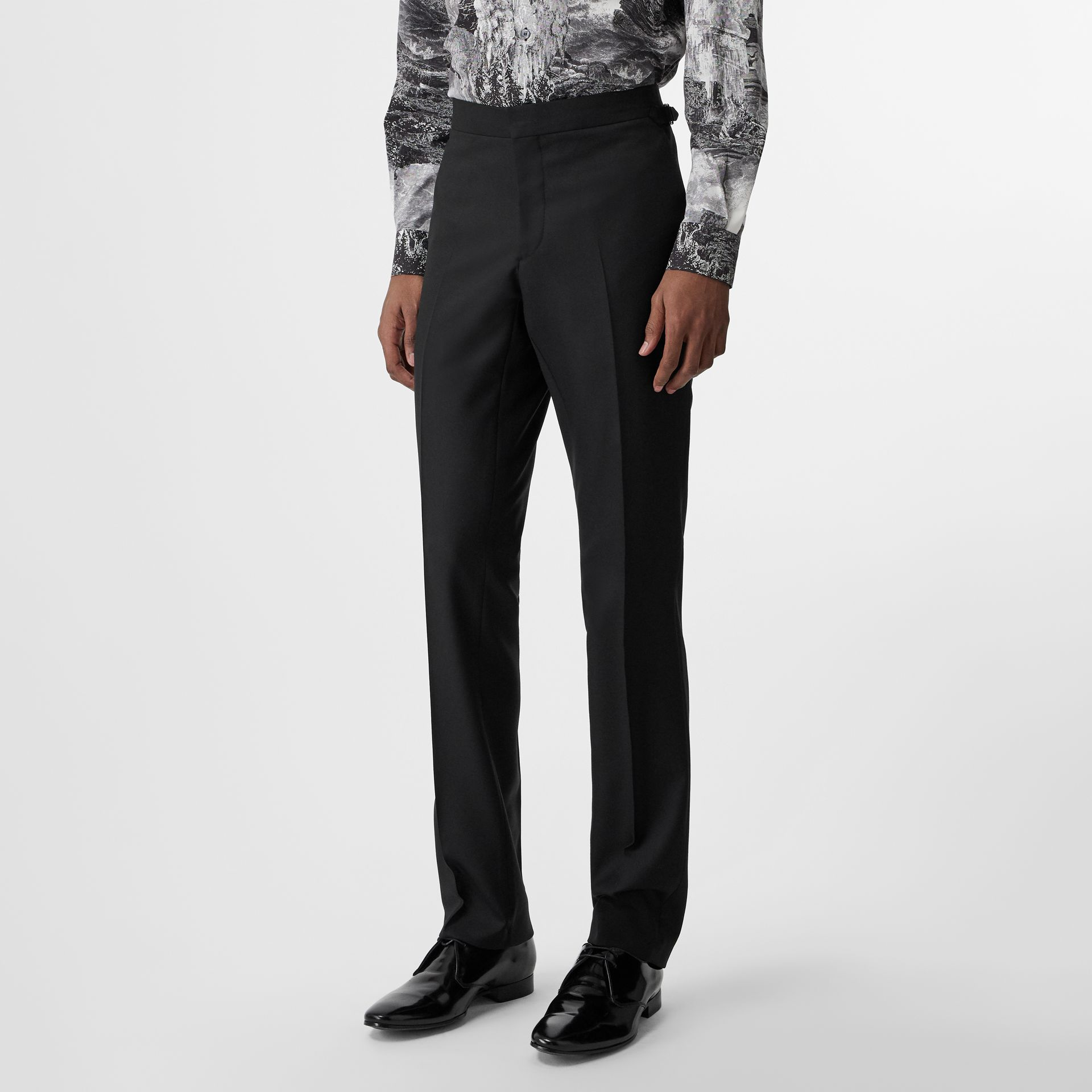 Classic Fit Wool Twill Suit in Black - Men | Burberry United States - gallery image 6