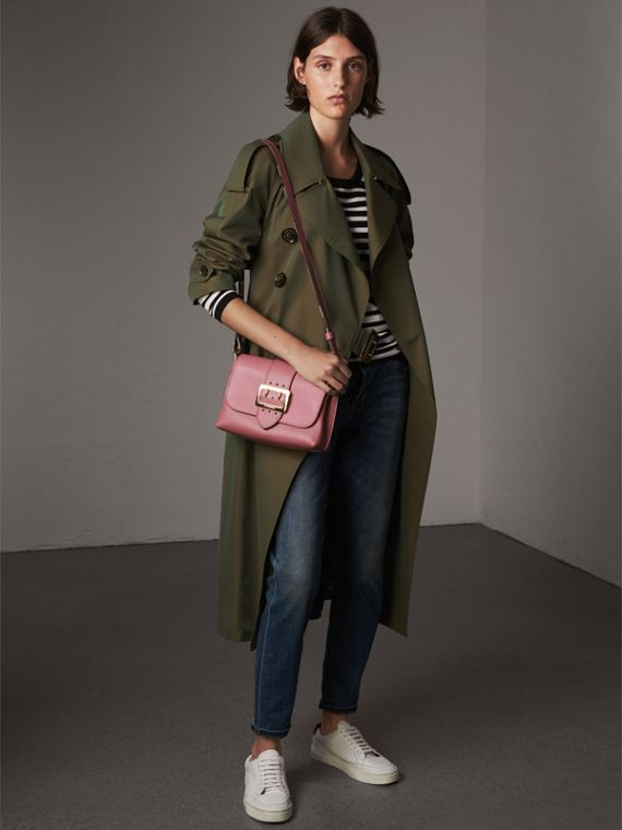 The Buckle Crossbody Bag in Leather in Dusty Pink - Women | Burberry - cell image 2