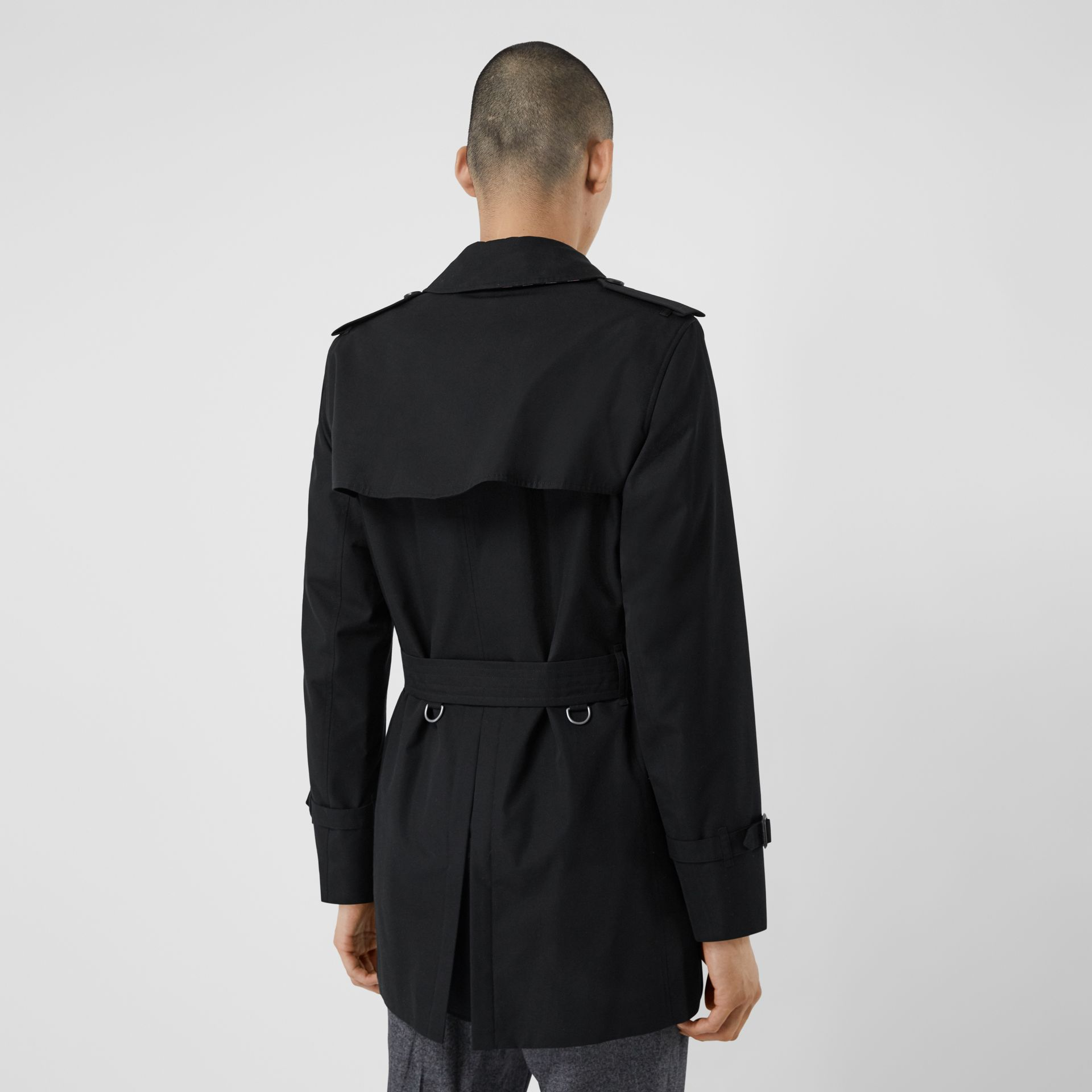 Cotton Gabardine Trench Coat in Black - Men | Burberry Canada - gallery image 2