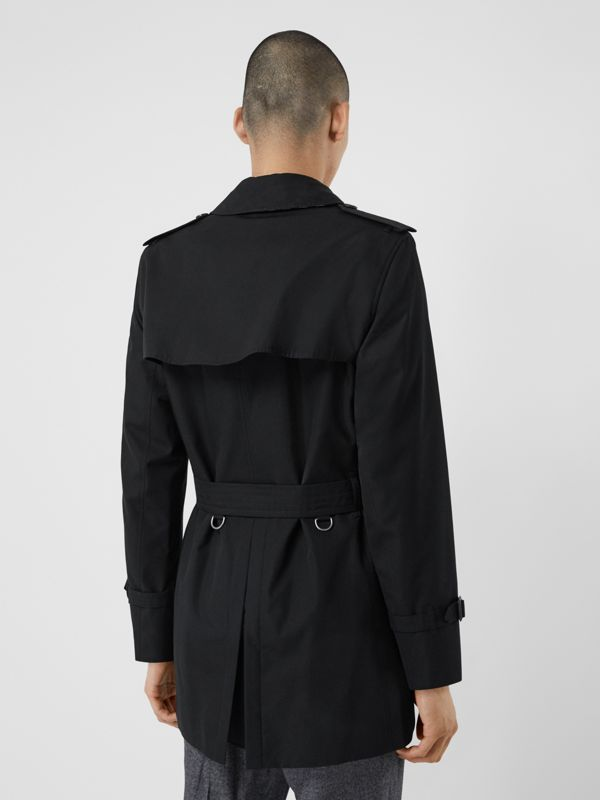 Cotton Gabardine Trench Coat in Black - Men | Burberry Canada - cell image 2