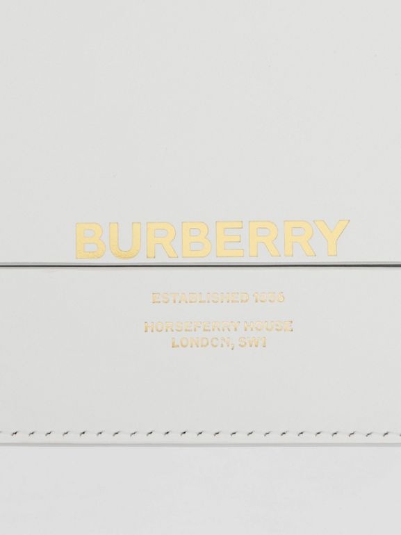Small Two-tone Leather Grace Bag in Optic White/light Pebble Grey - Women | Burberry - cell image 1