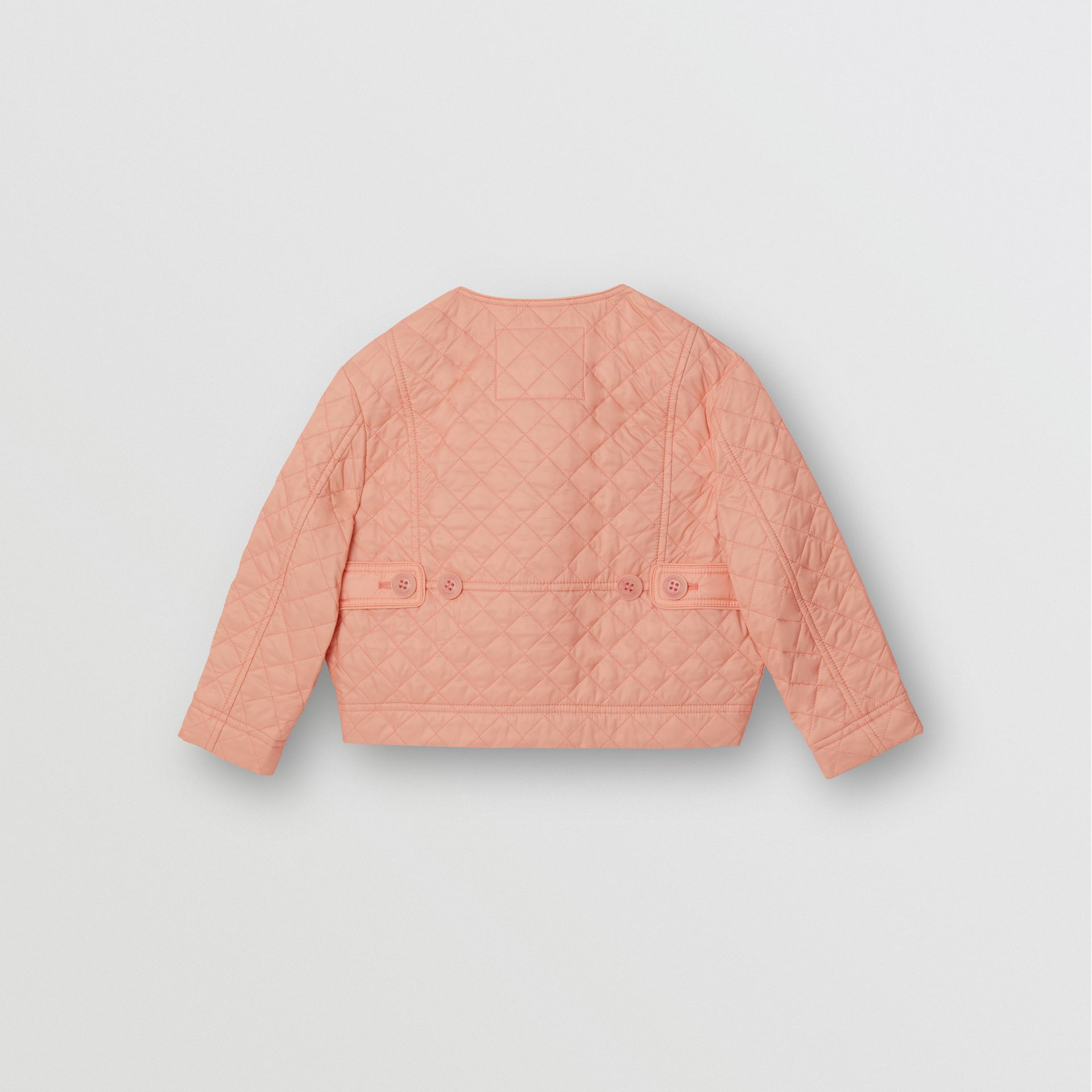 Lightweight Diamond Quilted Jacket in Apricot Pink - Children | Burberry - gallery image 3