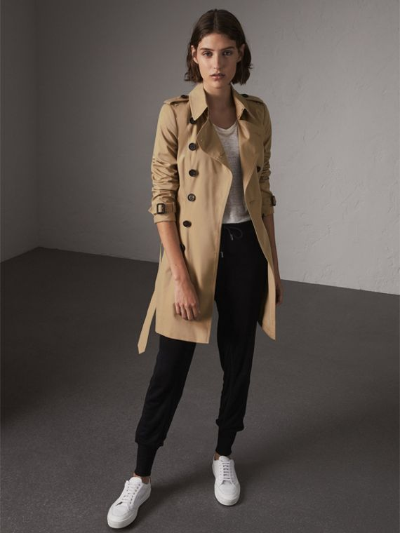 Trench Coat Chelsea de longitud media (Miel)