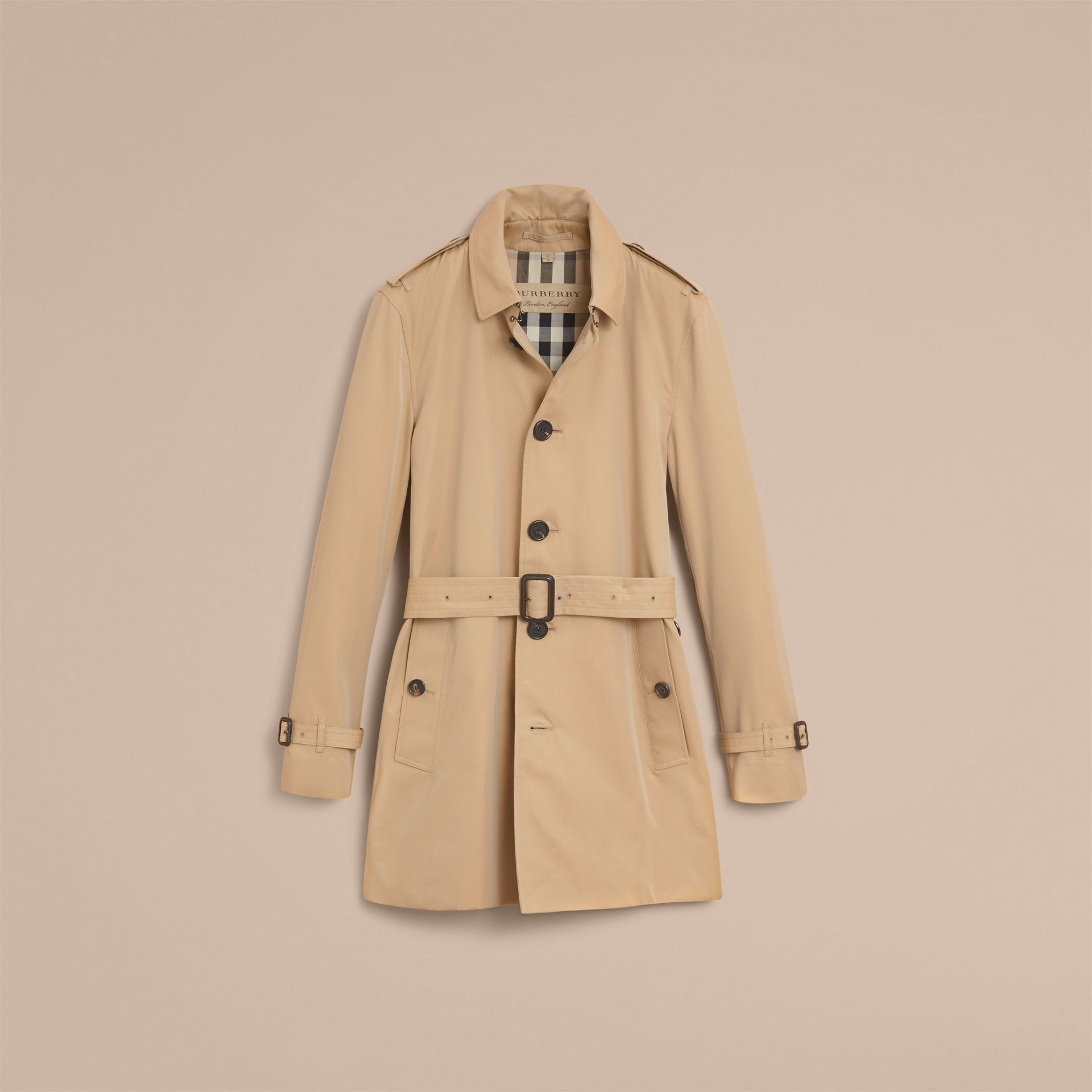 Mid-length Cotton Gabardine Trench Coat - gallery image 6