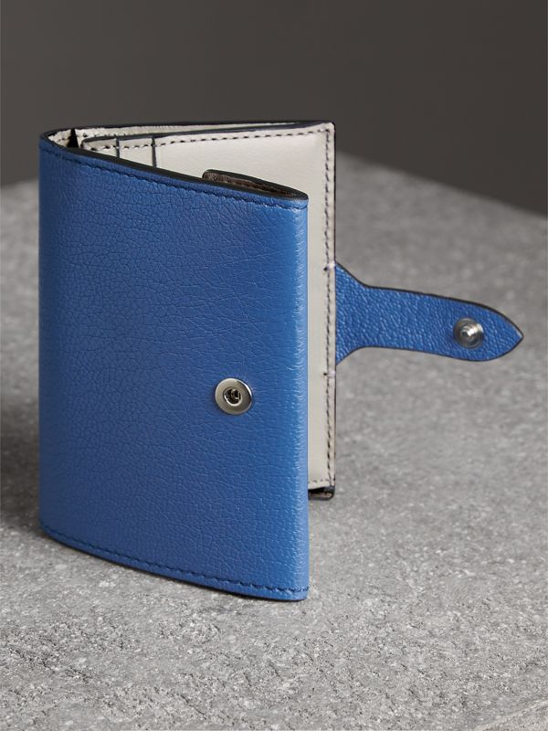 Equestrian Shield Two-tone Leather Folding Wallet in Hydrangea Blue - Women | Burberry - cell image 2