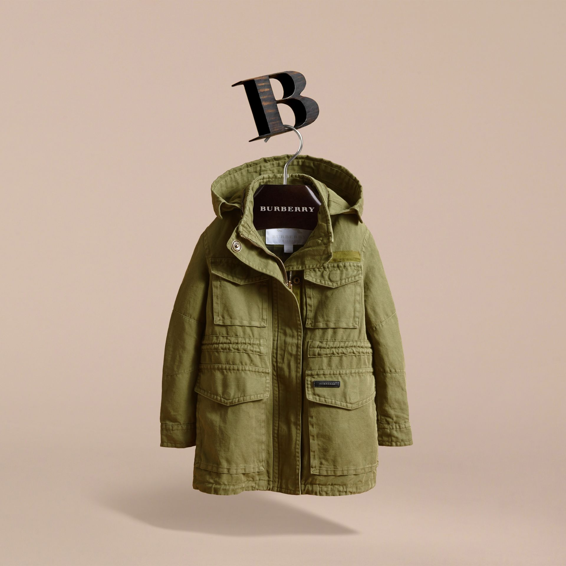 Hooded Cotton Linen Parka - gallery image 3