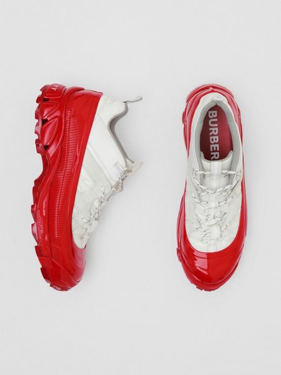 Sneaker Arthur in nylon e pelle scamosciata (Bianco)