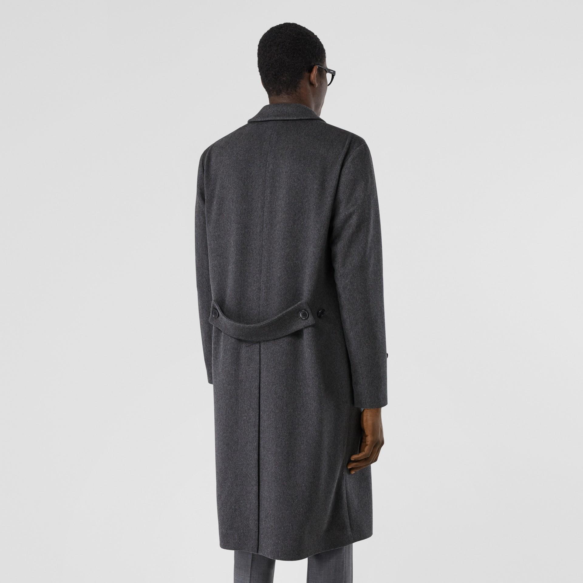 Cashmere Lab Coat in Pewter Melange - Men   Burberry - gallery image 2