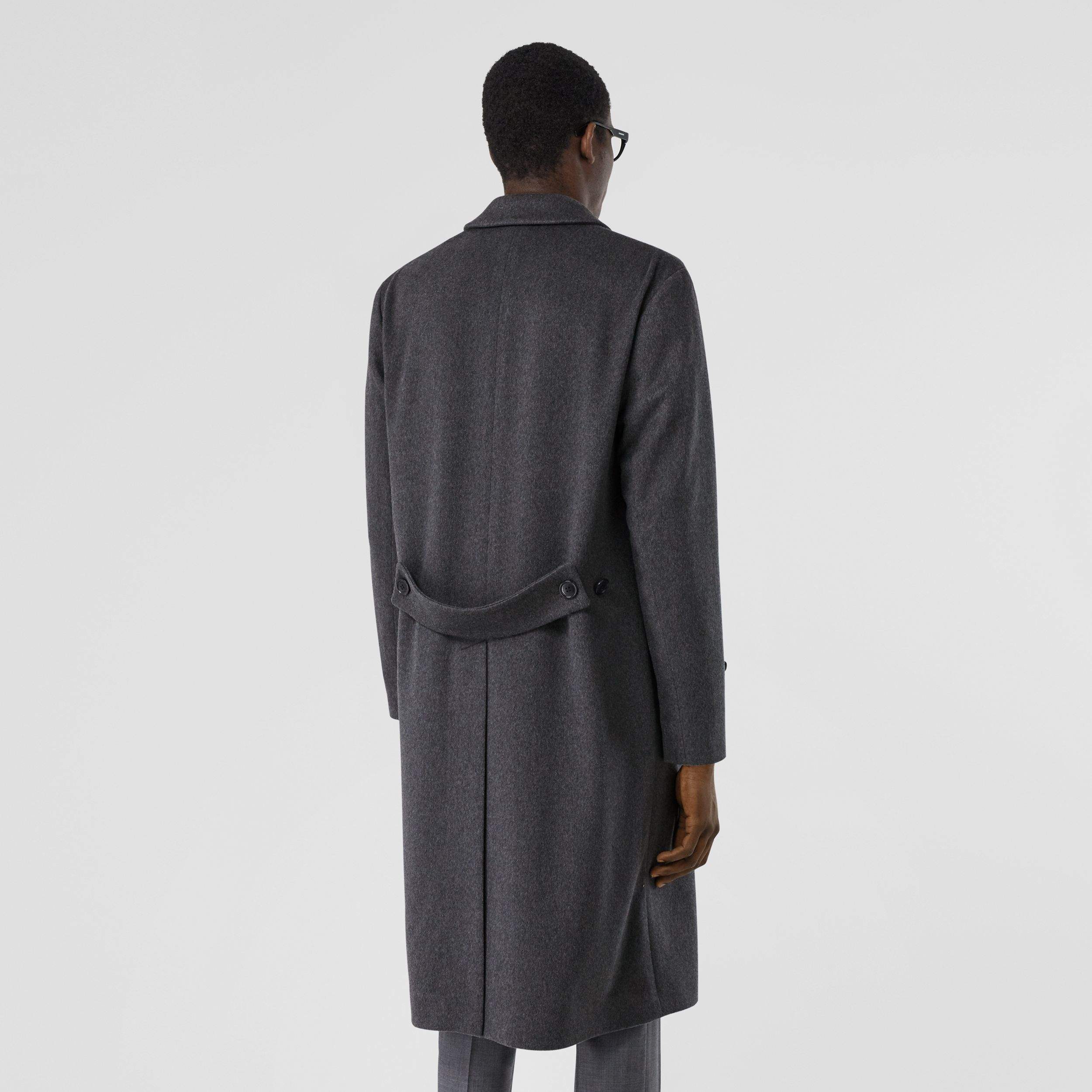 Cashmere Lab Coat in Pewter Melange - Men | Burberry Hong Kong S.A.R - 3