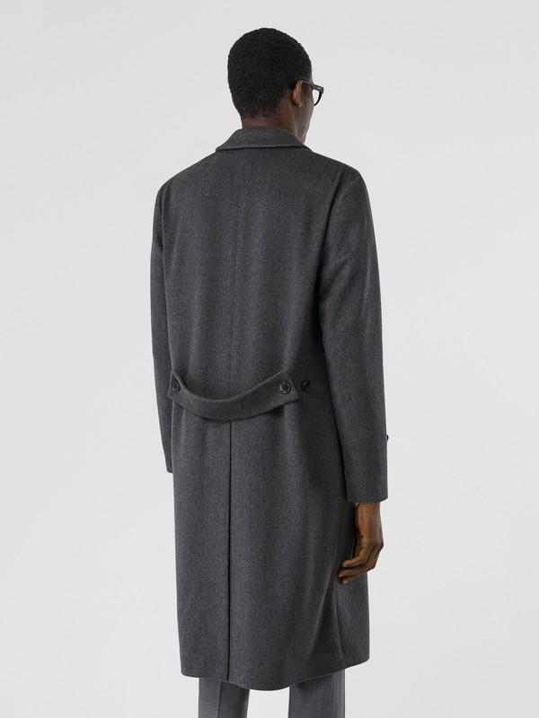 Cashmere Lab Coat in Pewter Melange - Men   Burberry - cell image 2