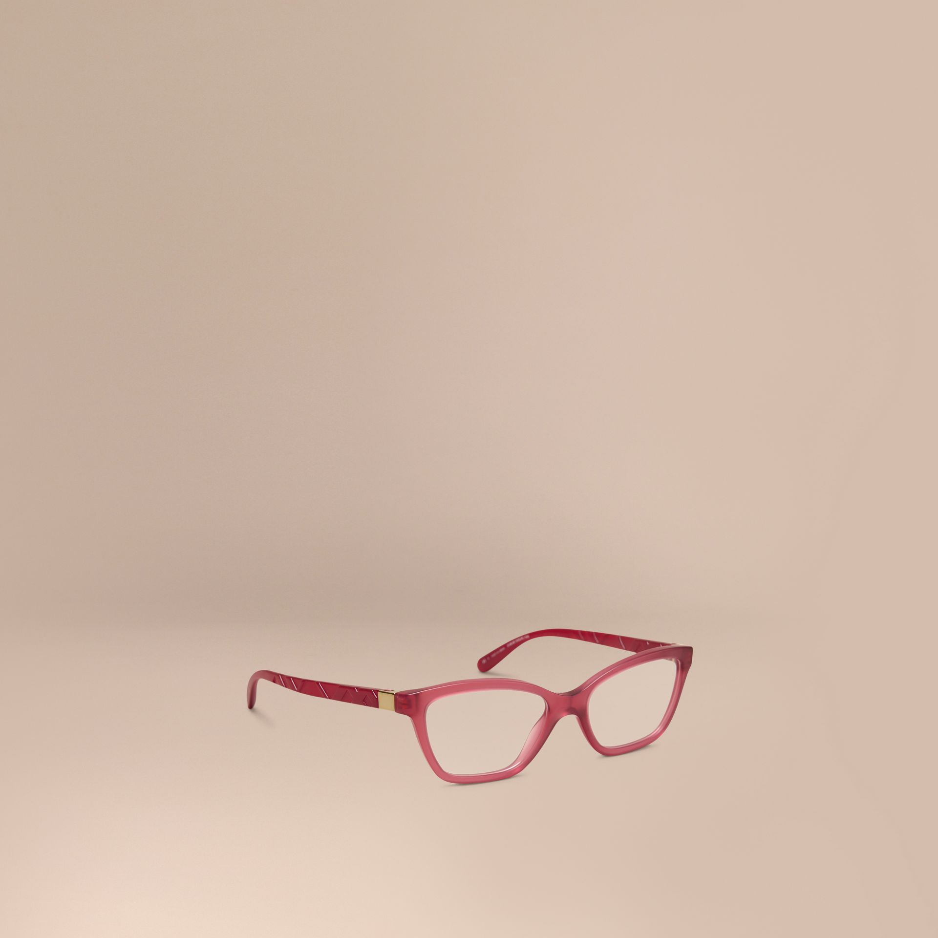 Check Detail Cat-eye Optical Frames Red - gallery image 1