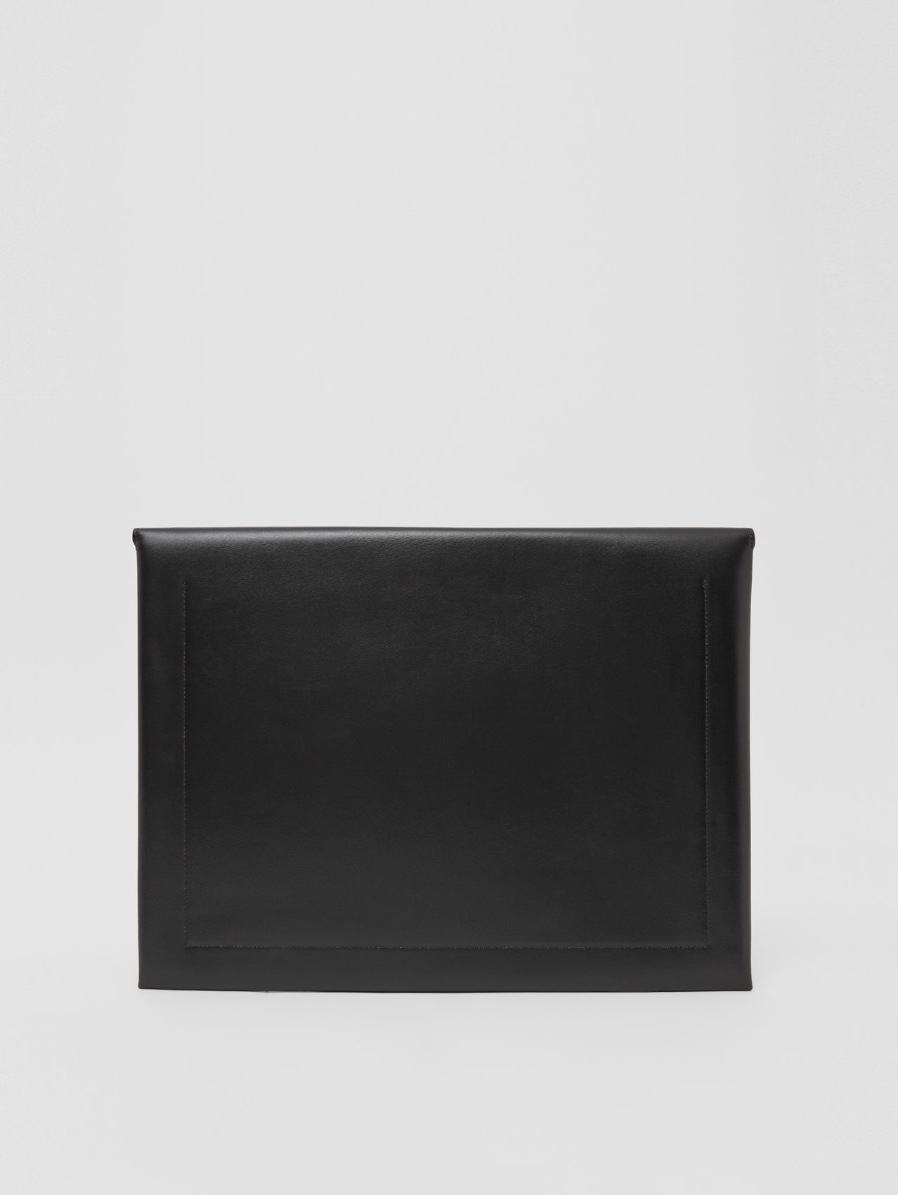 Leather Laptop Envelope Pouch in Black