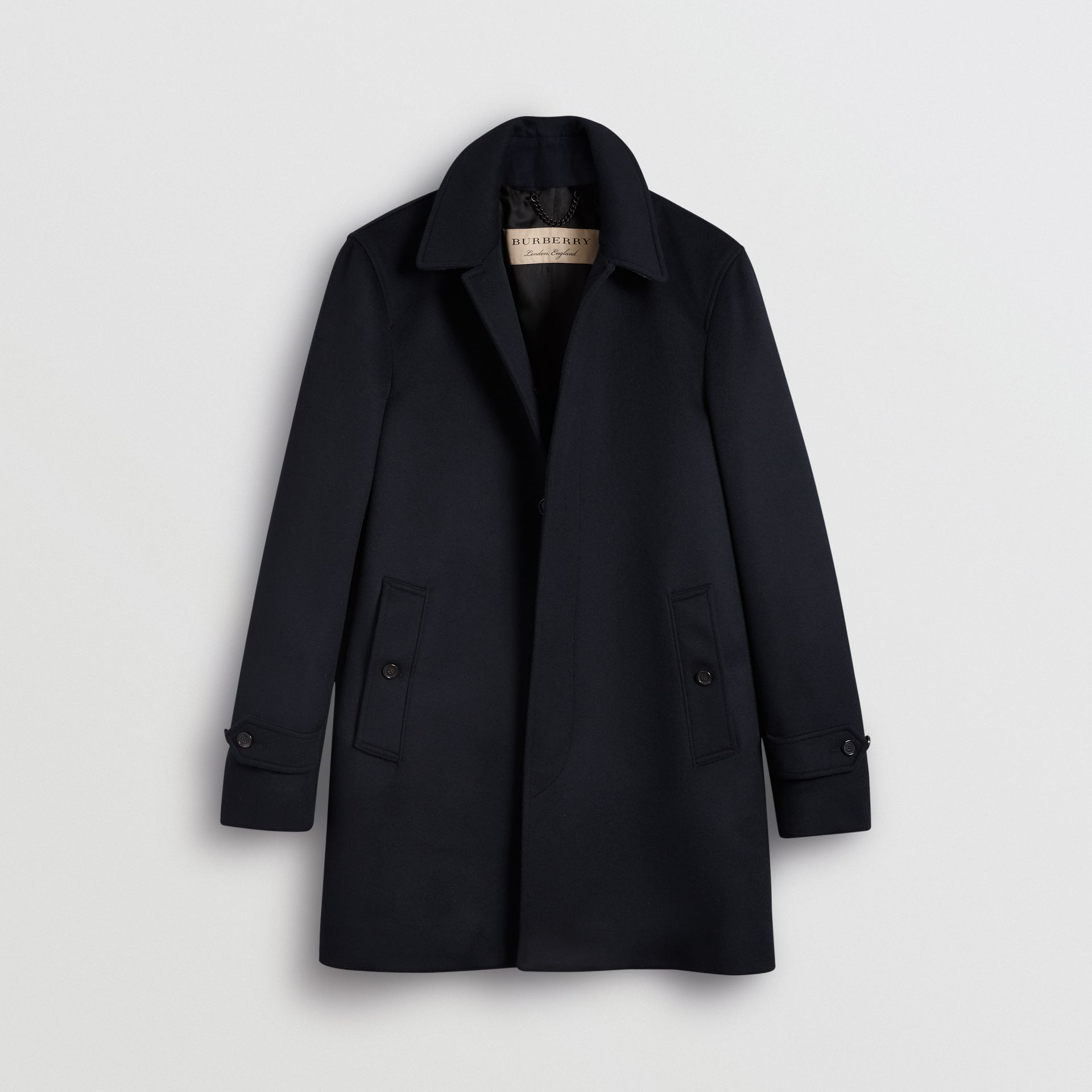 Wool Cashmere Car Coat in Navy - Men | Burberry - gallery image 3