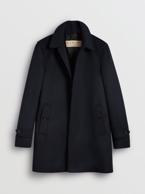 Wool Cashmere Car Coat in Navy - Men | Burberry United Kingdom - cell image 3