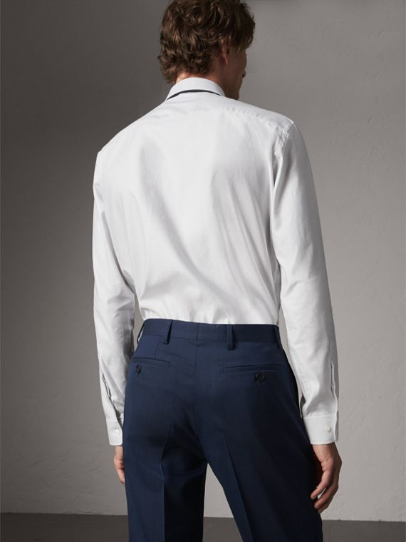 Modern Fit Pin Dot Dobby Cotton Shirt in White - Men | Burberry - cell image 2