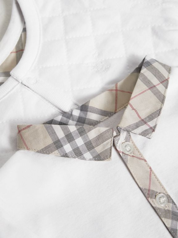 Cotton Four-piece Baby Gift Set in White - Boy | Burberry - cell image 1