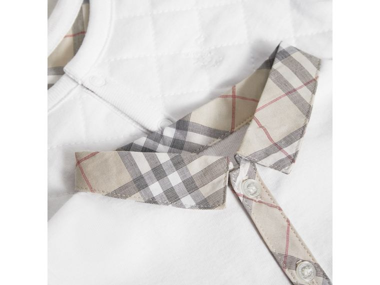 Cotton Four-piece Baby Gift Set in White - Boy | Burberry United Kingdom - cell image 1