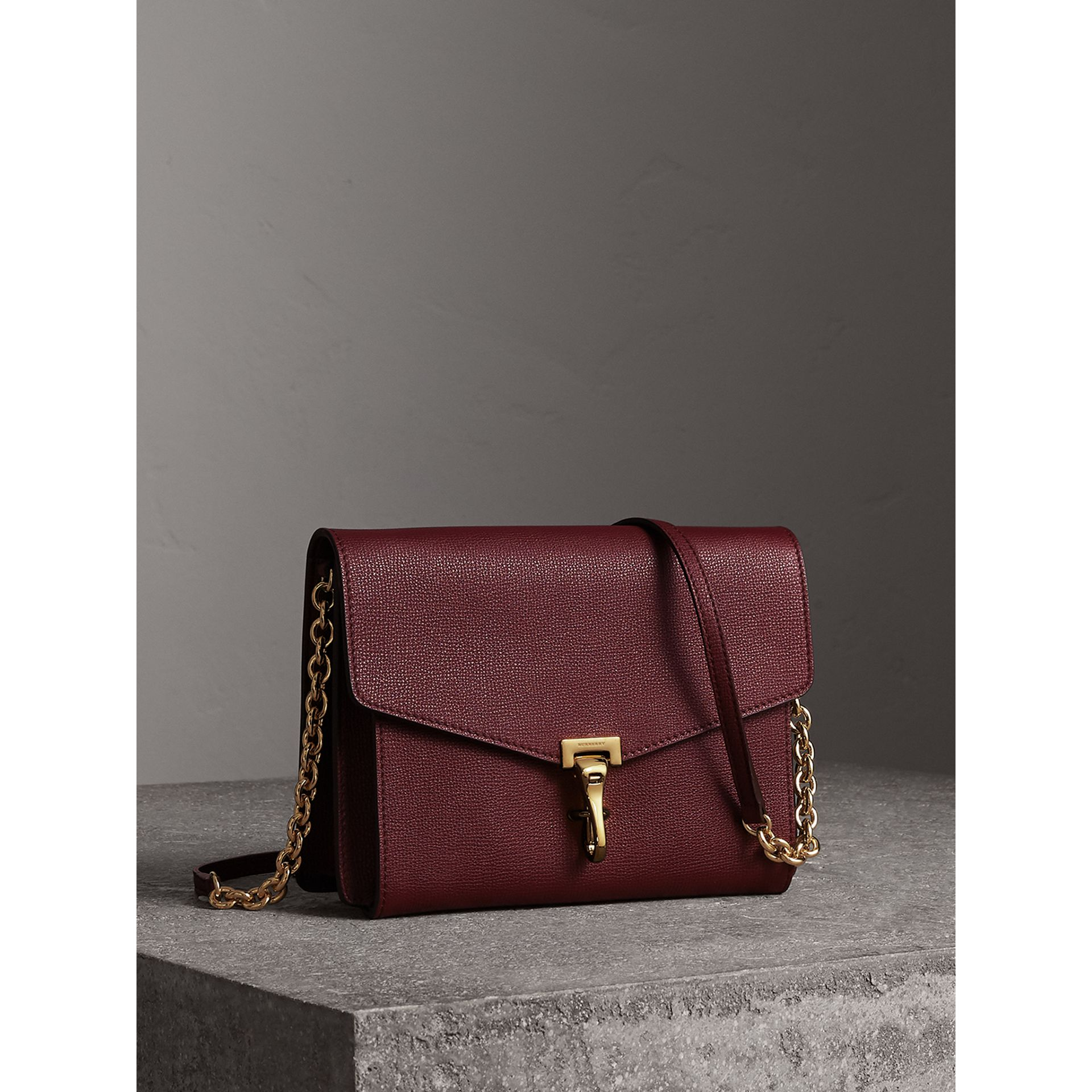 Small Leather Crossbody Bag in Mahogany Red - Women | Burberry Singapore - gallery image 7