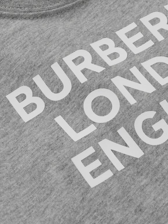 Logo Print Cotton T-shirt in Grey Melange - Children | Burberry - cell image 1