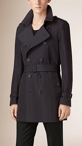 Trench-coat en gabardine de coton avec gilet intérieur amovible