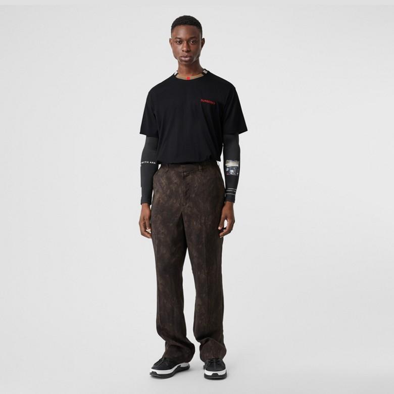 Burberry - T-shirt en coton à rayures iconiques - 1