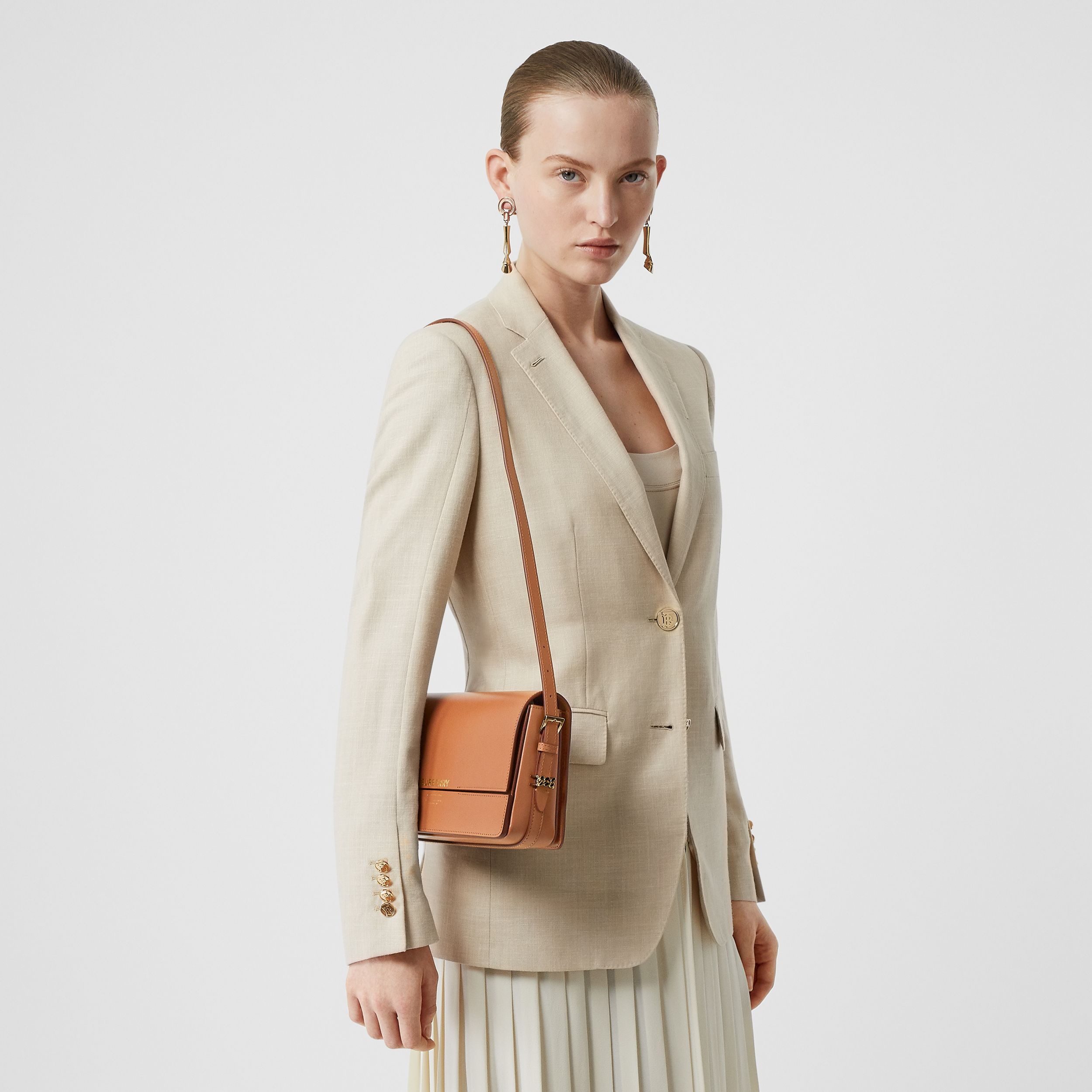 Mini Leather Grace Bag in Nutmeg - Women | Burberry - 3