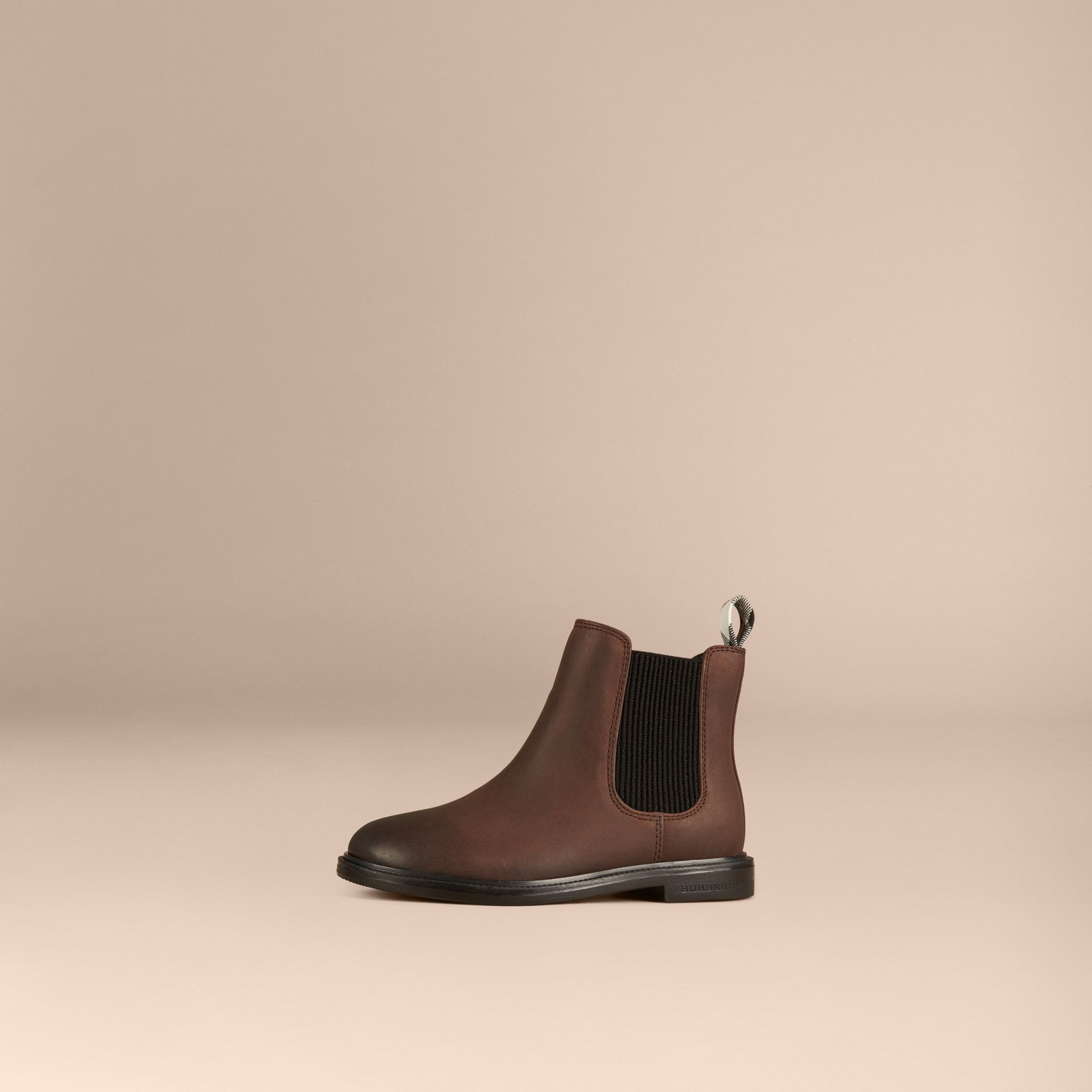 Bitter chocolate Leather Chelsea Boots - gallery image 1