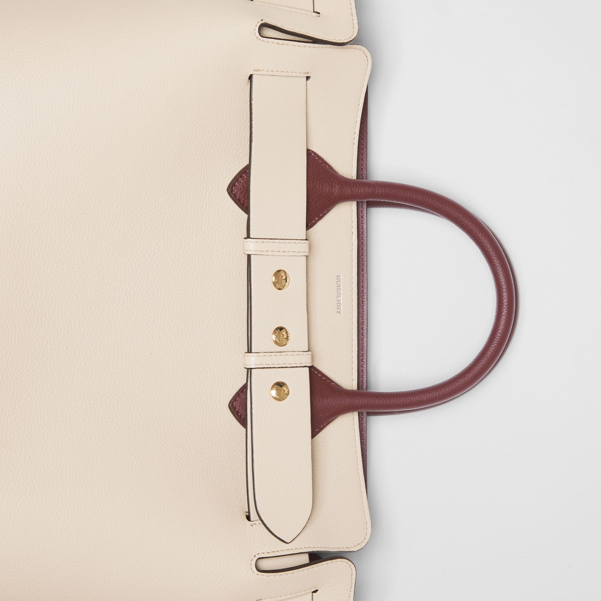 The Medium Tri-tone Leather Belt Bag in Limestone/pale Drift - Women | Burberry Hong Kong - gallery image 1