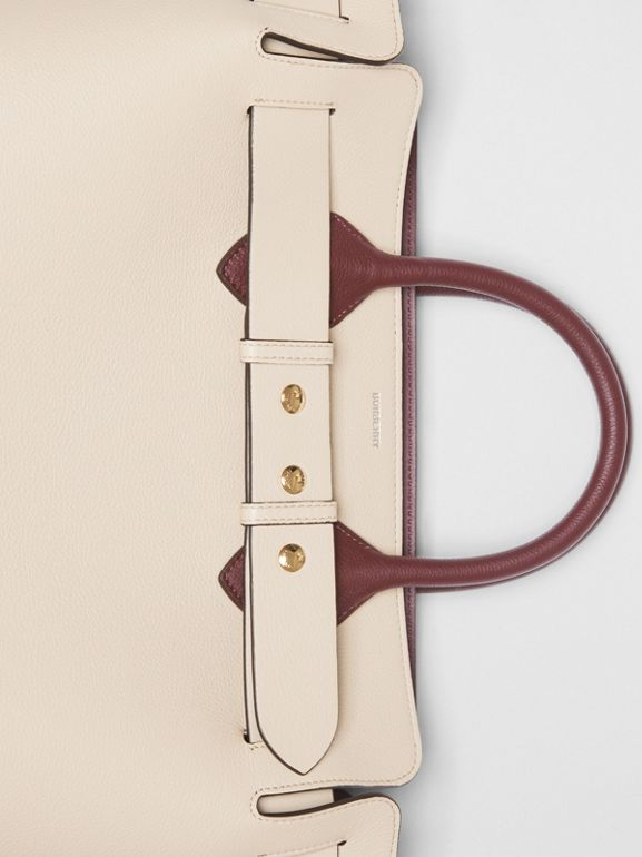 The Medium Tri-tone Leather Belt Bag in Limestone/pale Drift - Women | Burberry Australia - cell image 1