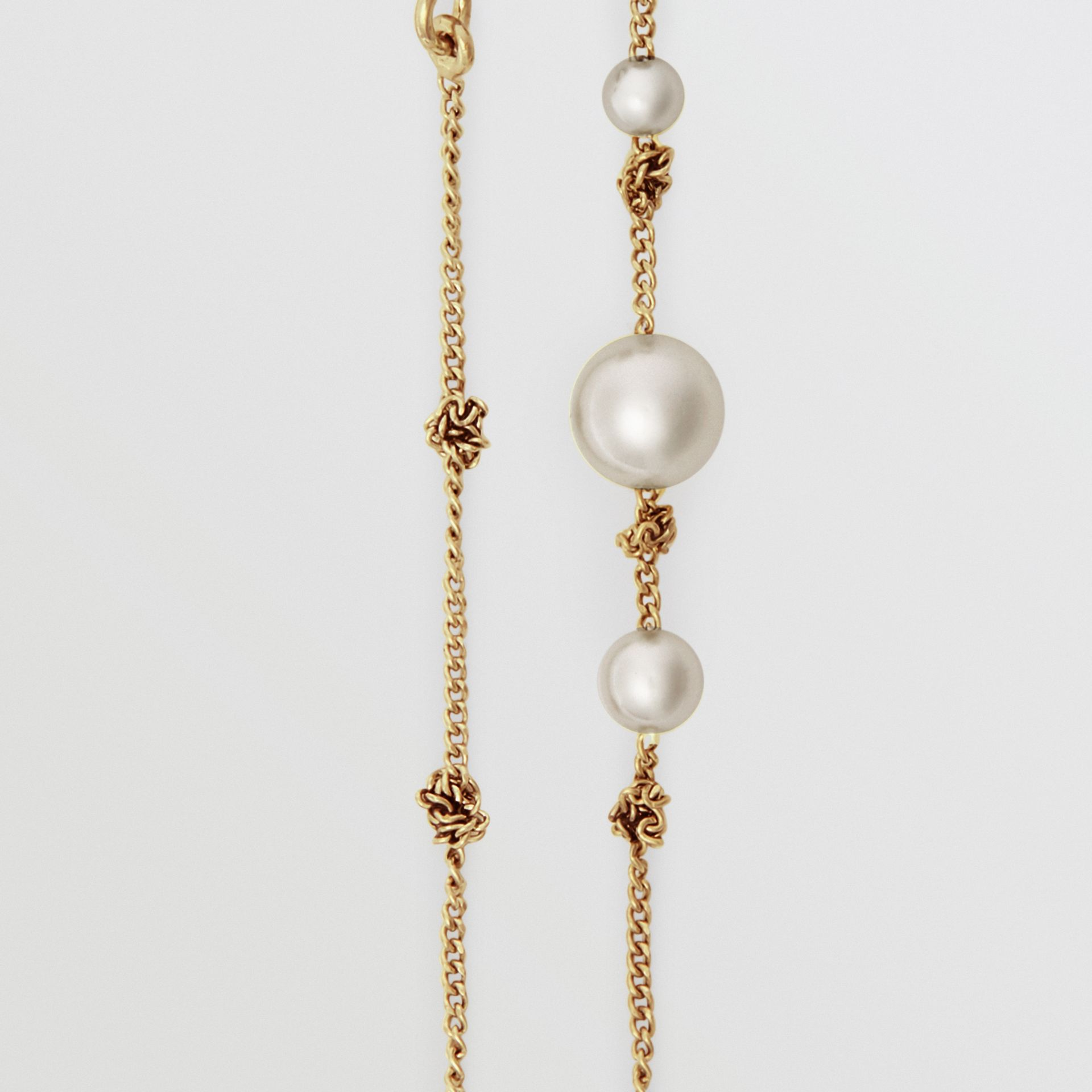 Faux Pearl Gold-plated Drop Earrings in Light - Women | Burberry - gallery image 1