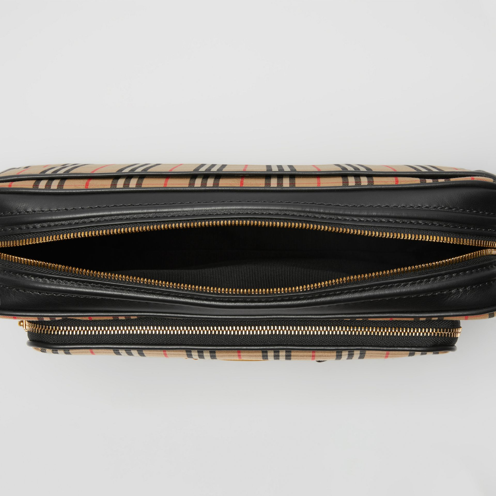 The Large 1983 Check Link Camera Bag in Black - Men | Burberry - gallery image 5