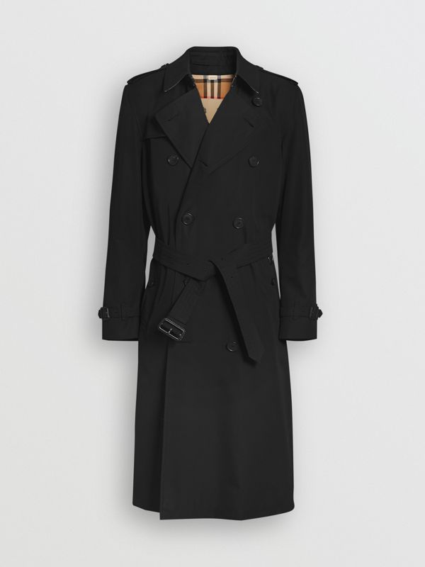 The Long Kensington Heritage Trench Coat in Black - Men | Burberry - cell image 3
