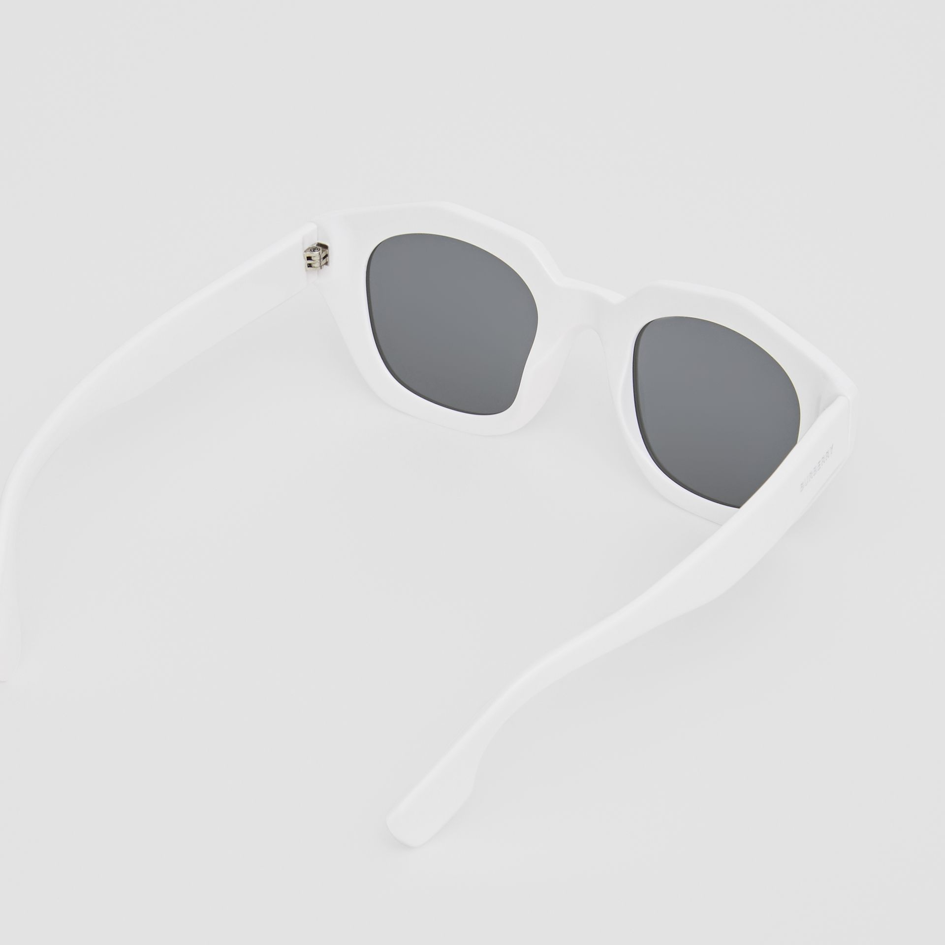 Geometric Frame Sunglasses in White - Women | Burberry Australia - gallery image 4