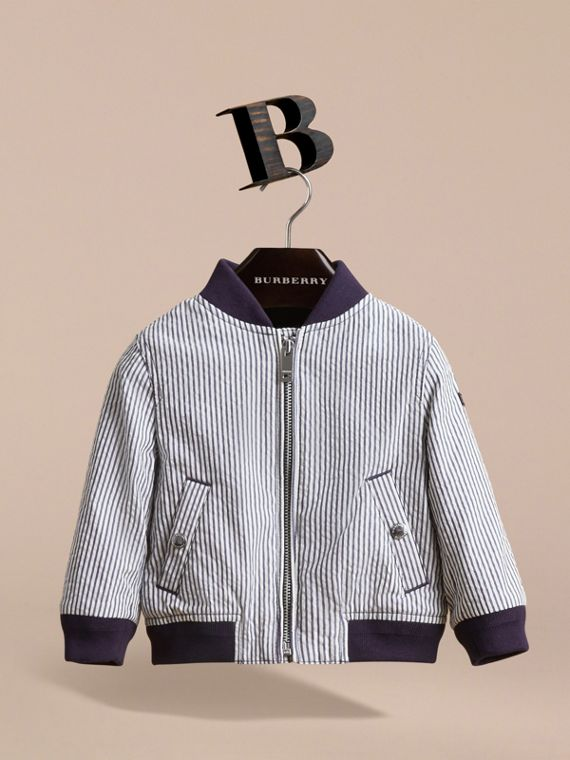 Lightweight Striped Seersucker Jacket - cell image 2