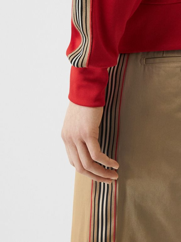 Icon Stripe Detail Cotton Twill Chino Shorts in Honey - Men | Burberry Canada - cell image 1