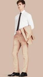 Modern Fit Linen Trousers