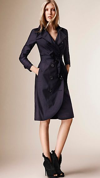 Lightweight Silk Wool Trench Coat