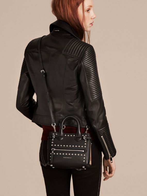 The Baby Banner in Studded Leather and House Check - cell image 2