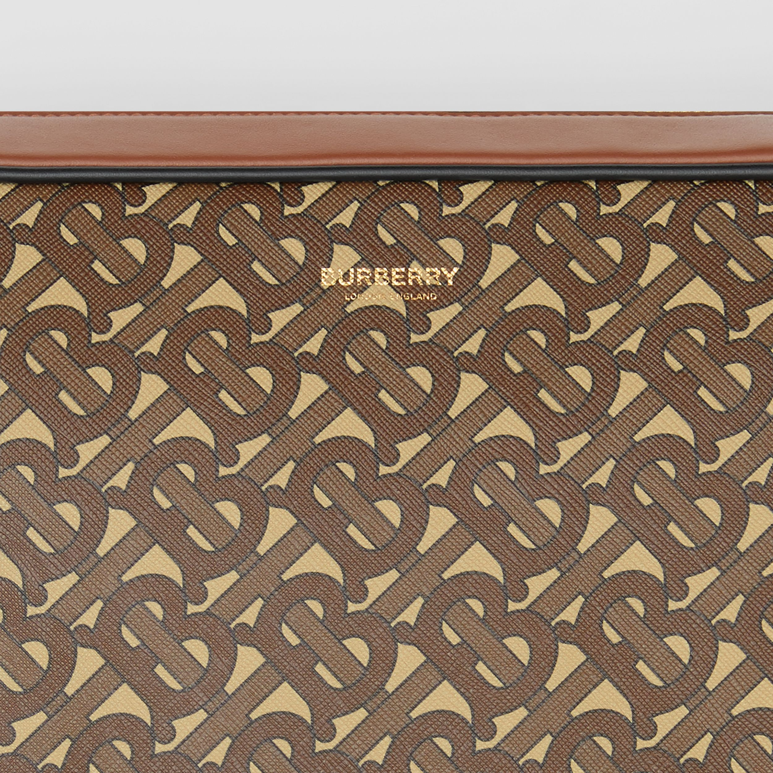 Monogram Print E-canvas Messenger Bag in Bridle Brown - Men | Burberry Canada - 2