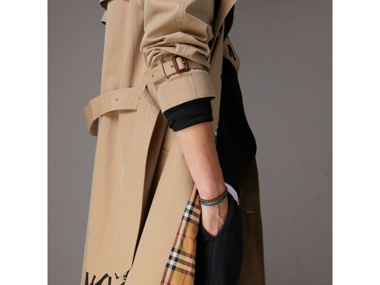 Burberry x Kris Wu Gabardine Trench Coat in Honey - Men | Burberry - cell image 1