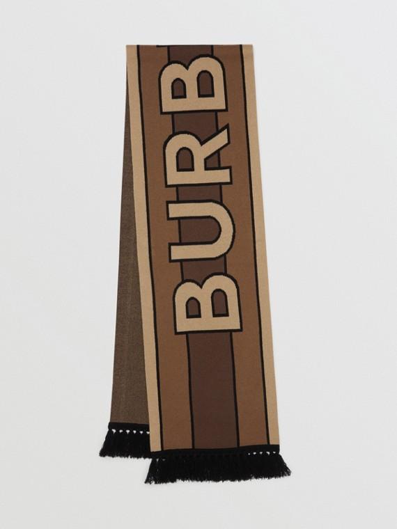 Шарф из кашемира с логотипом Burberry (Темно-коричневый)